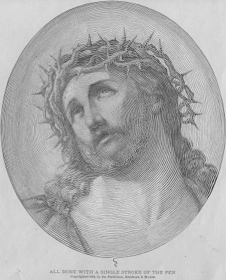 Portrait of Christ Done with a Single Stroke of the Pen (1884)