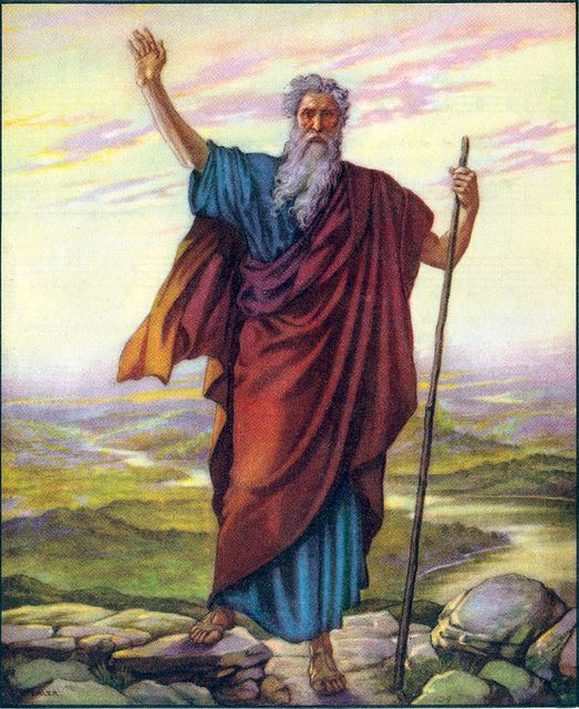 Moses sees