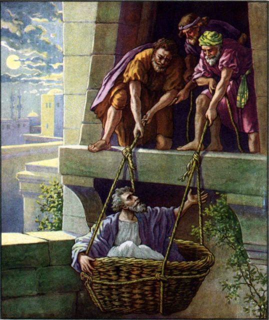Paul Escapes Damascus Acts 9:25