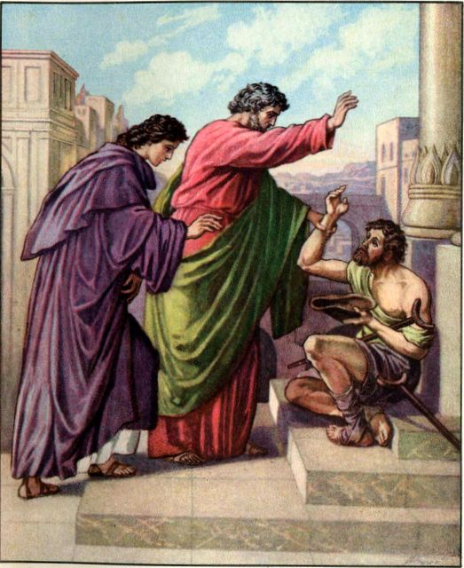 Peter and John Heal a Beggar Acts 3:1-6