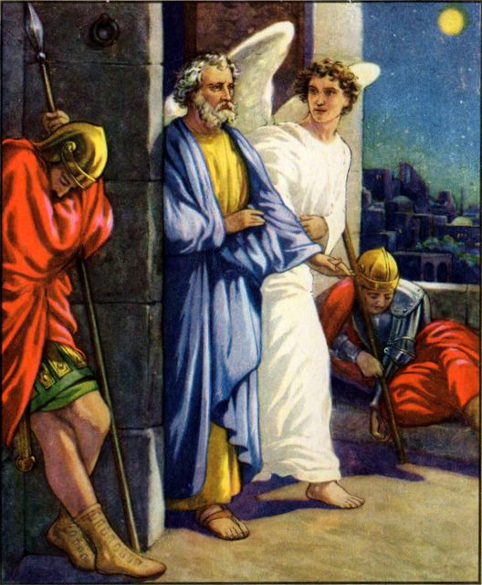 Peter Freed by an Angel Acts 12:7-10