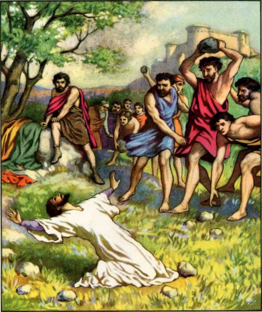 Stephen Stoned Acts 7:57-60
